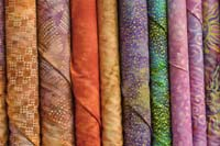 Batik fabric bolts